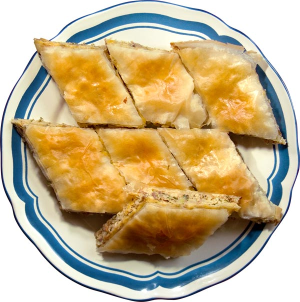 Пирог с курицей (Κοτόπιτα, Kotopita, Phyllo Pie with Chicken)